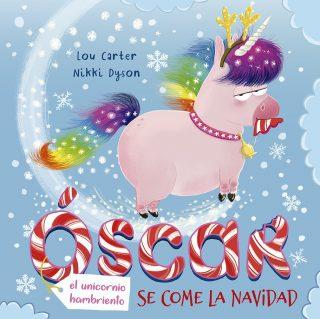 Óscar, el unicornio hambriento se come la Navidad